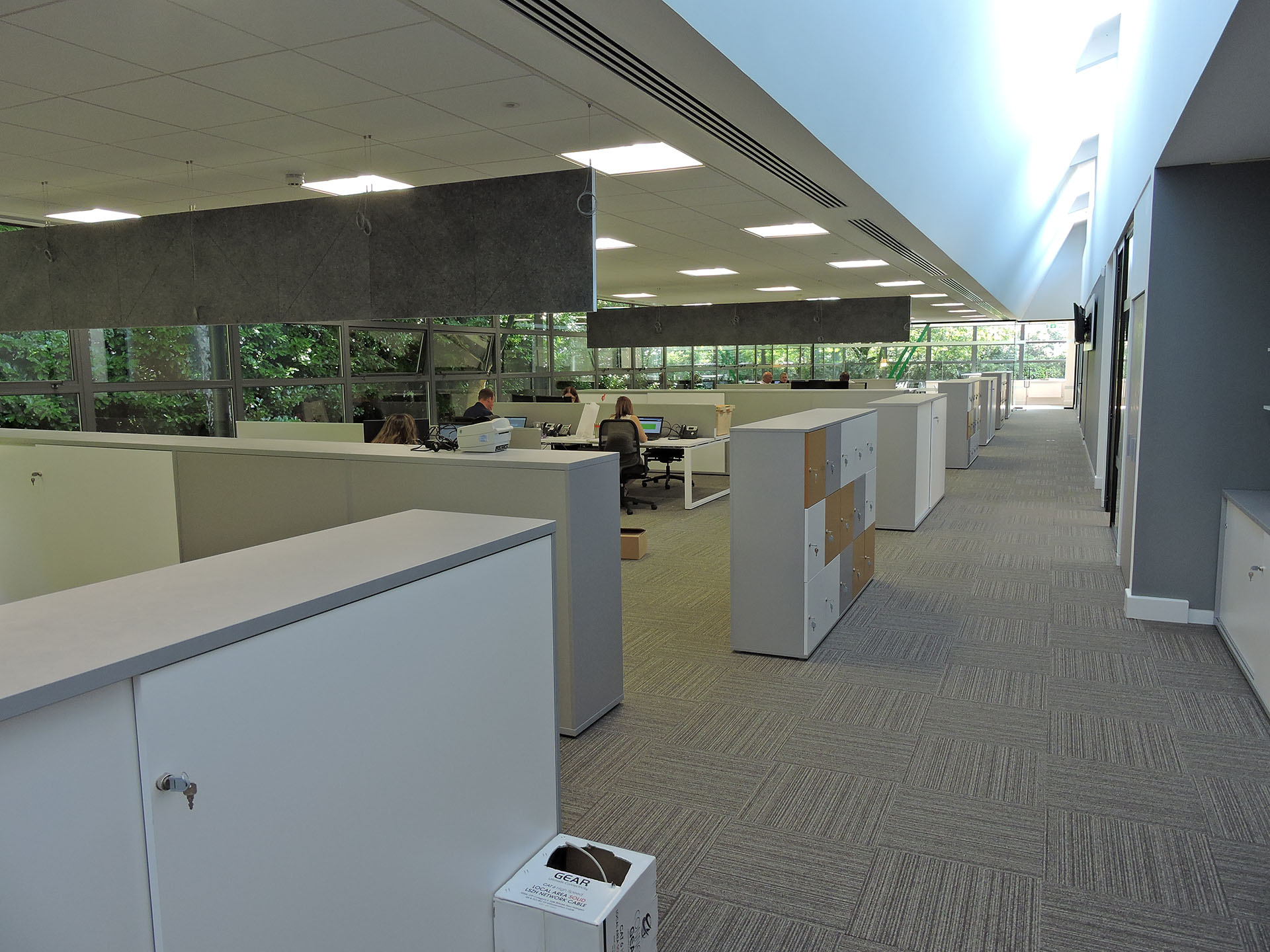 Large open plan office space