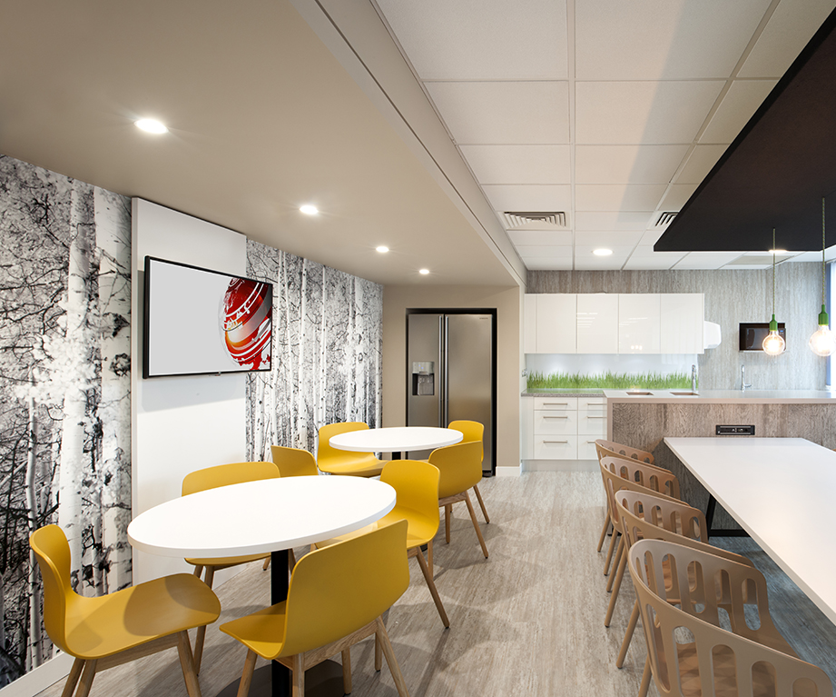 Office Kitchen and Seating Area